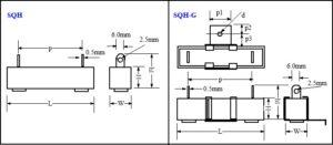 SQH Ceramic Resistors drawing