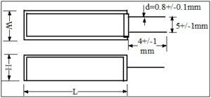 SQM Ceramic Resistor drawing