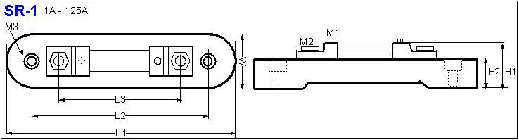 Shunt Resistor SR-1 drawing