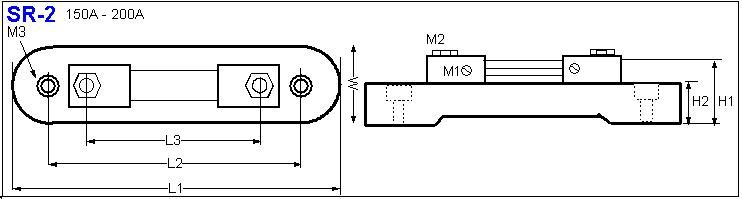 Shunt Resistor SR-2 drawing