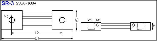 Shunt Resistor SR-3 drawing
