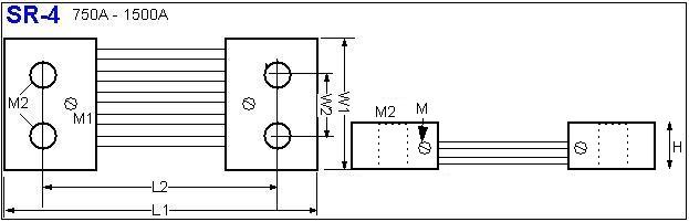 Shunt Resistor SR-4 drawing