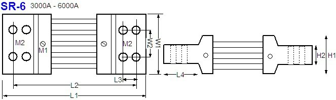 Shunt Resistor SR-6 drawing
